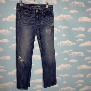 American Eagle- Hipster Distressed Jeans size 8XL
